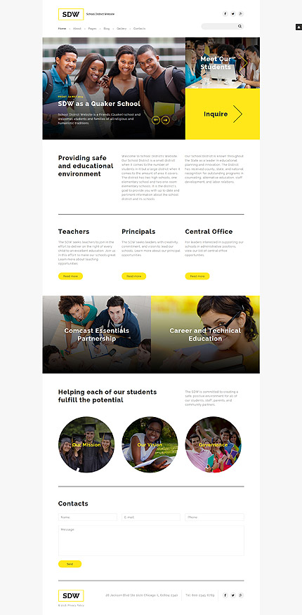 Joomla Theme/Template 58047 Main Page Screenshot