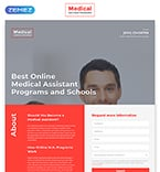 Medical Landing Page  Template 58055