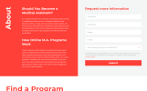 Responsywny szablon Landing Page Medical Assistance Program - Medical School Clean HTML #58055
