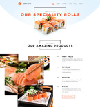 Cafe & Restaurant Website  Template 58056