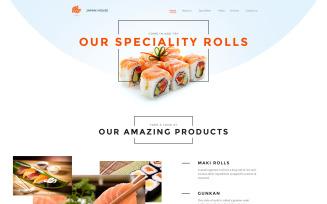 Sushi Bar Responsive Website Template