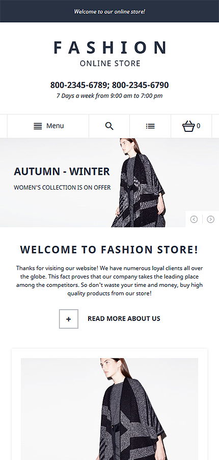 Magento Theme/Template 58060 Main Page Screenshot