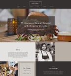 Cafe & Restaurant Website  Template 58062