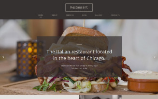 Italian Restaurant Responsive Website Template