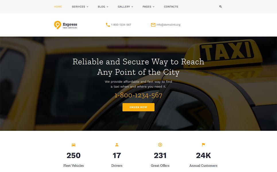 Reszponzív Taxi társaságok Weboldal sablon New Screenshots BIG