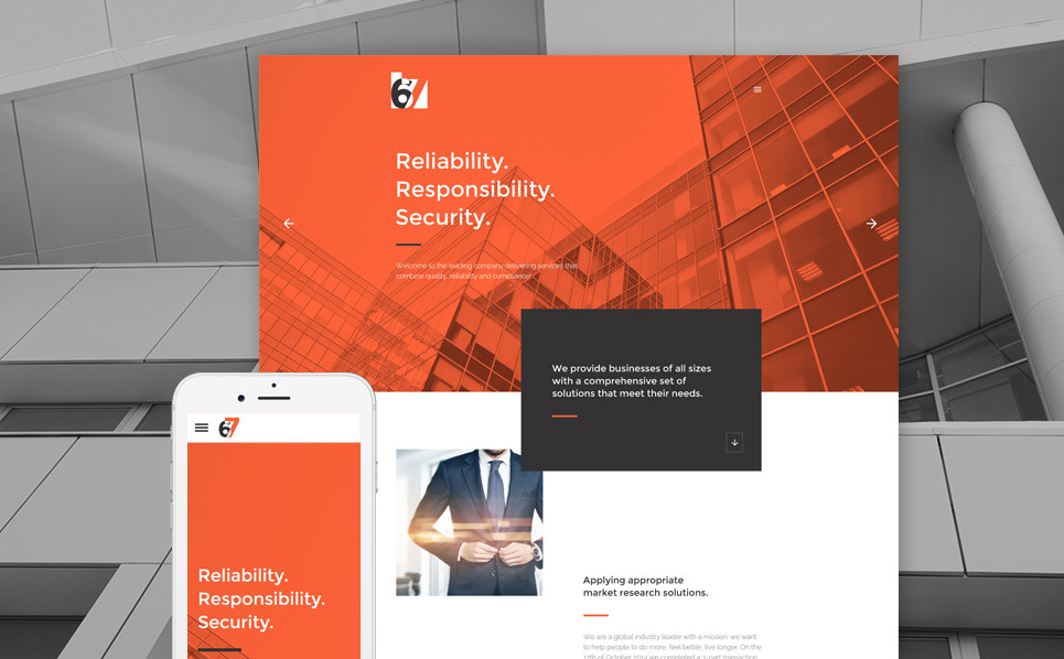 Responsive Website template over Business & Diensten New Screenshots BIG