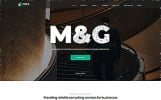 Responsivt M&G - Consulting Multipage HTML5 Hemsidemall