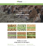 Agriculture Website  Template 58074