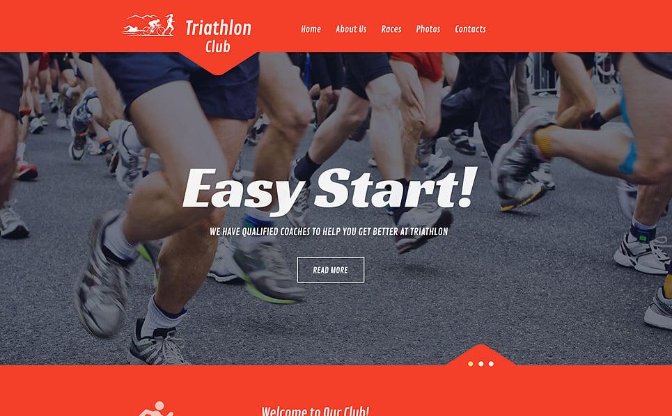 Адаптивний Шаблон сайту на тему спорт New Screenshots BIG