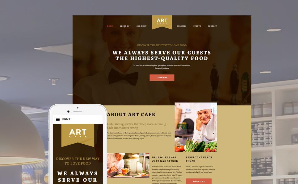 Reszponzív Kávézók  Weboldal sablon New Screenshots BIG