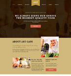 Cafe & Restaurant Website  Template 58085