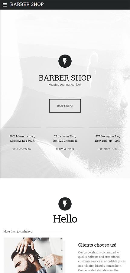 barber shop website template website templates. Black Bedroom Furniture Sets. Home Design Ideas