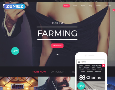 88 Channel Joomla Template