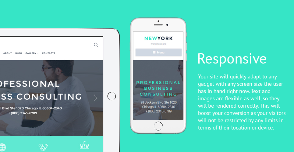 New York  Responsive WordPress  Theme