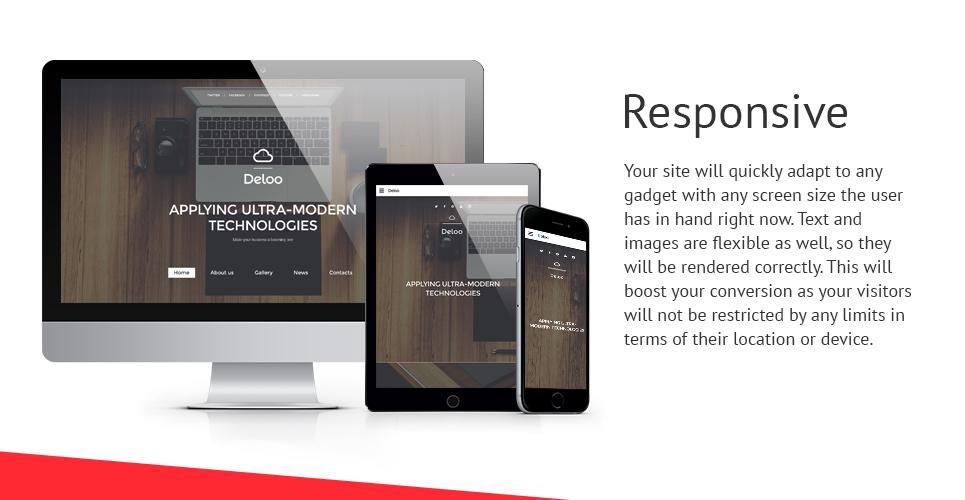 Deloo Development  Responsive Website Template