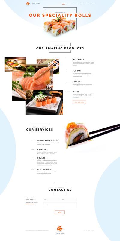 Sushi Bar Responsive Шаблон сайту