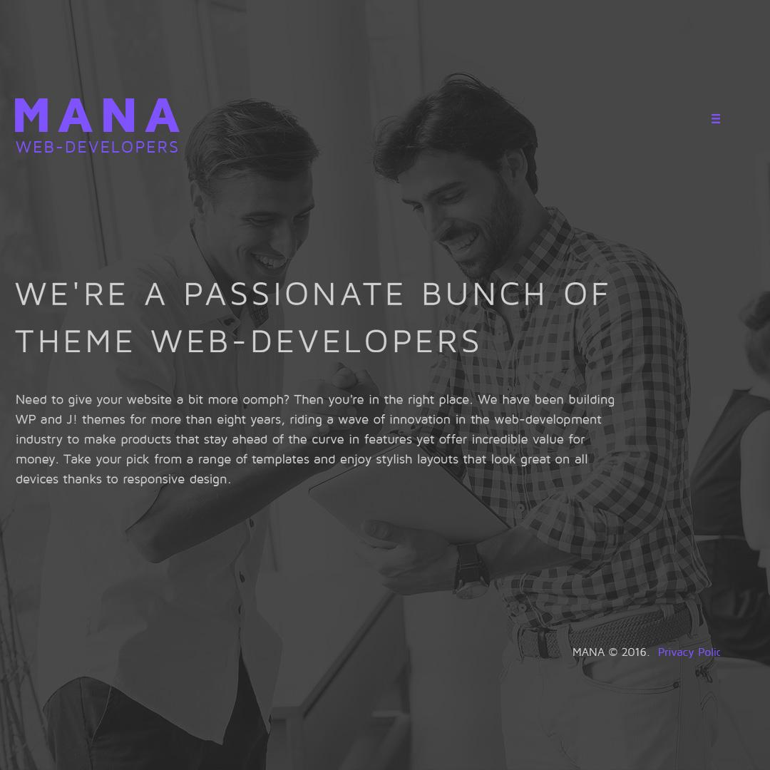 Адаптивный Joomla шаблон №58065 на тему веб-разработка