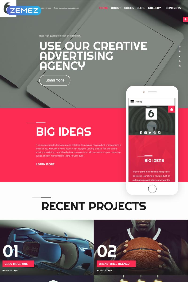 """Advertising Agency"" Joomla Template №58032"