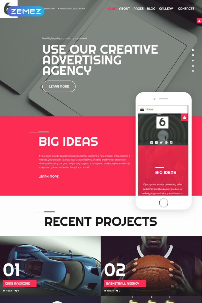Advertising Agency Joomla Template New Screenshots BIG