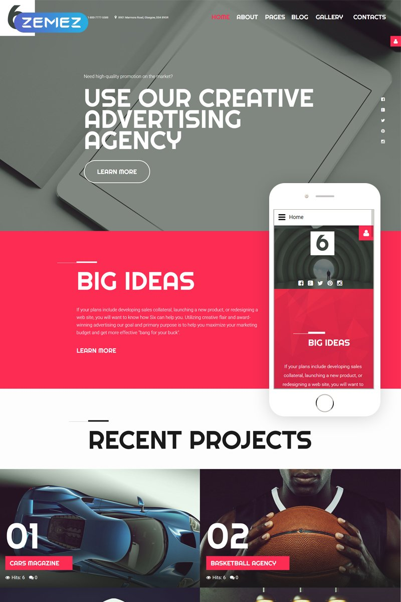 Advertising Agency Template Joomla №58032