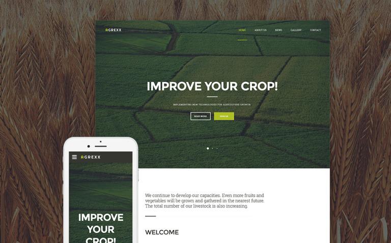 Agrexx Website Template New Screenshots BIG