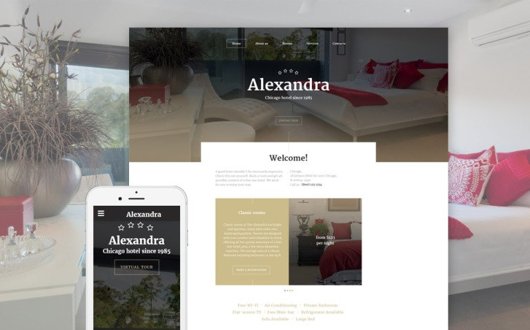 Aleksandra Website Template New Screenshots BIG