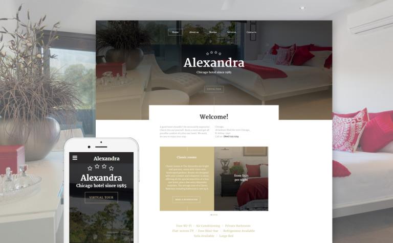 Aleksandra Website Template
