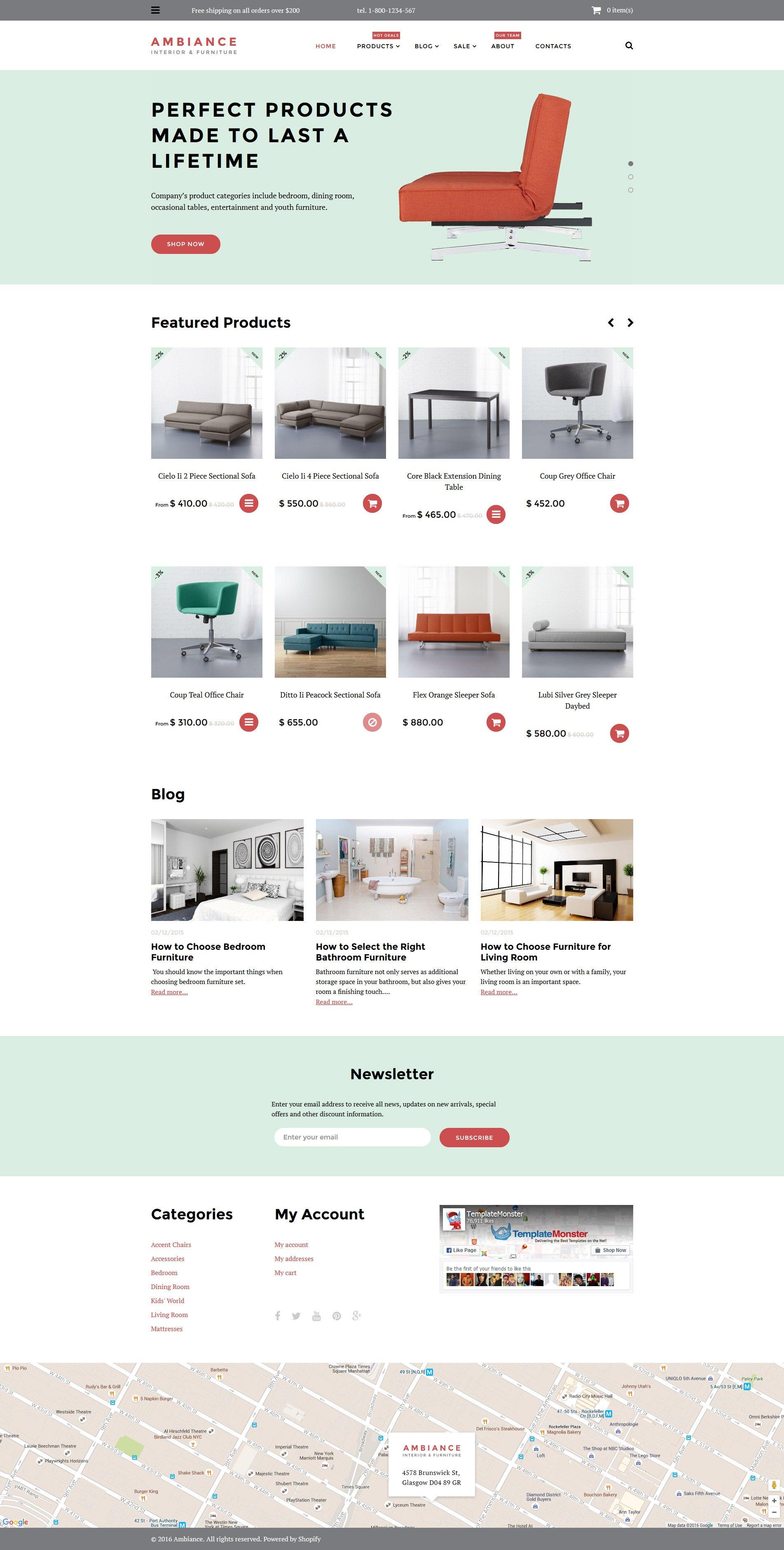 """""""Ambiance"""" Shopify Thema №58012 - screenshot"""