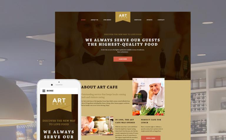 cafeteria web template