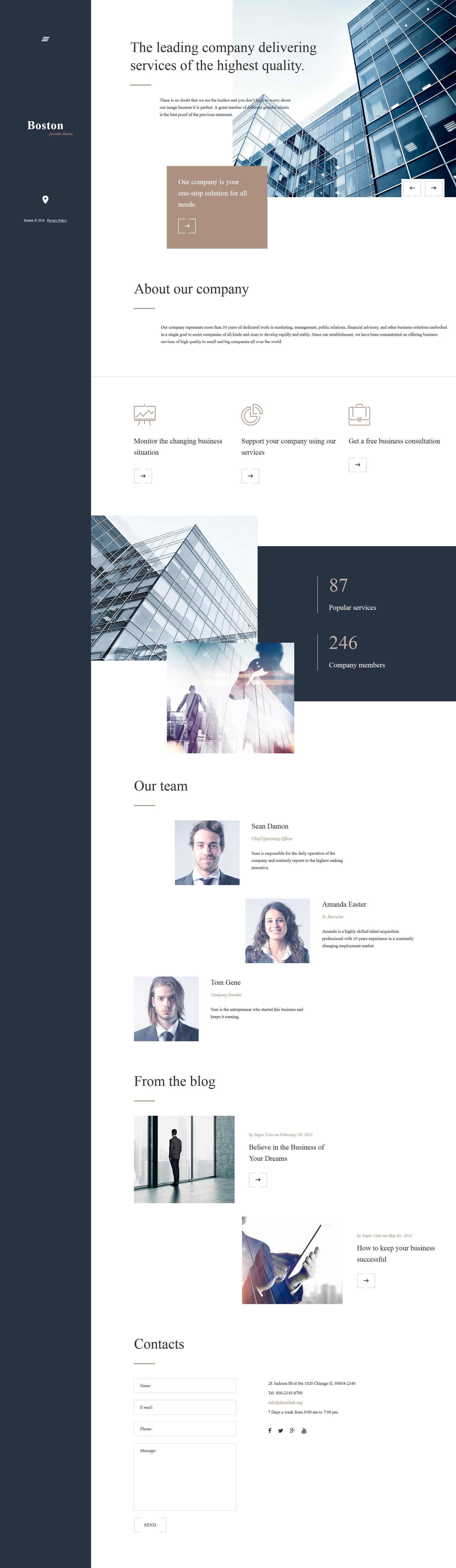 Boston Joomla Template - screenshot