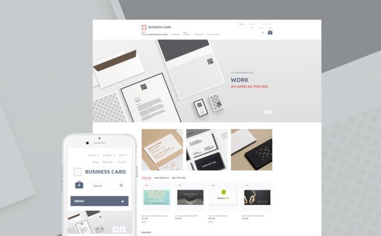 Business Card PrestaShop Theme
