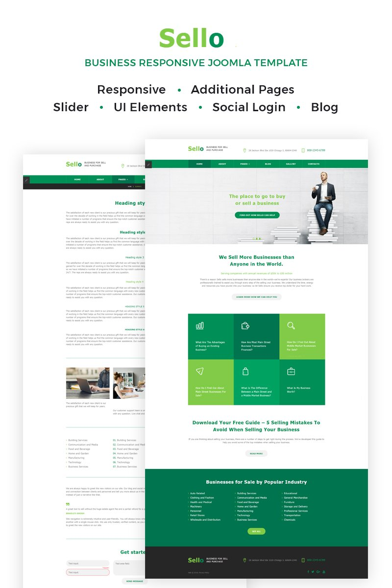 Business Responsive Joomla Template - screenshot