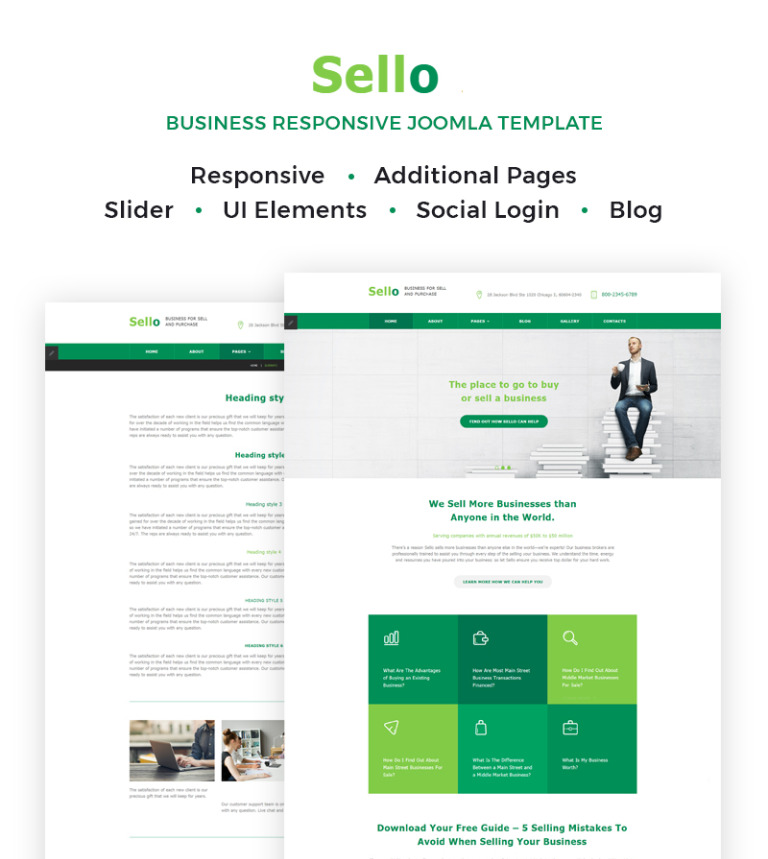 Business responsive joomla template business responsive joomla template new screenshots big friedricerecipe Image collections