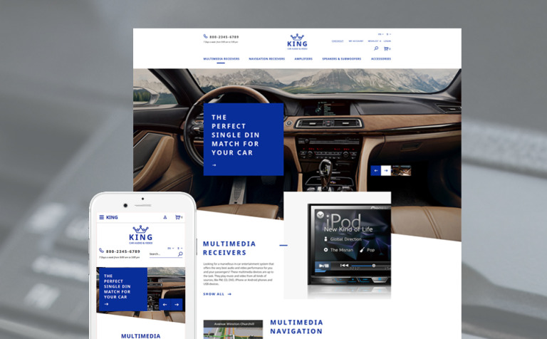 Car Audio Video OpenCart Template