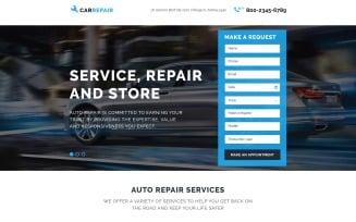 Car Repair Responsive Landing Page Template