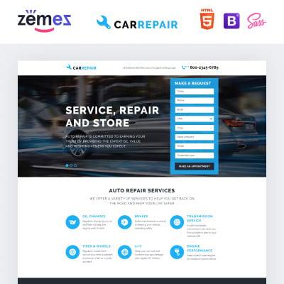 car repair templates templatemonster. Black Bedroom Furniture Sets. Home Design Ideas