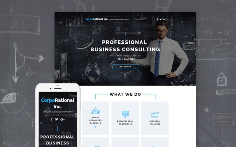 Consulting Landing Page Template New Screenshots BIG