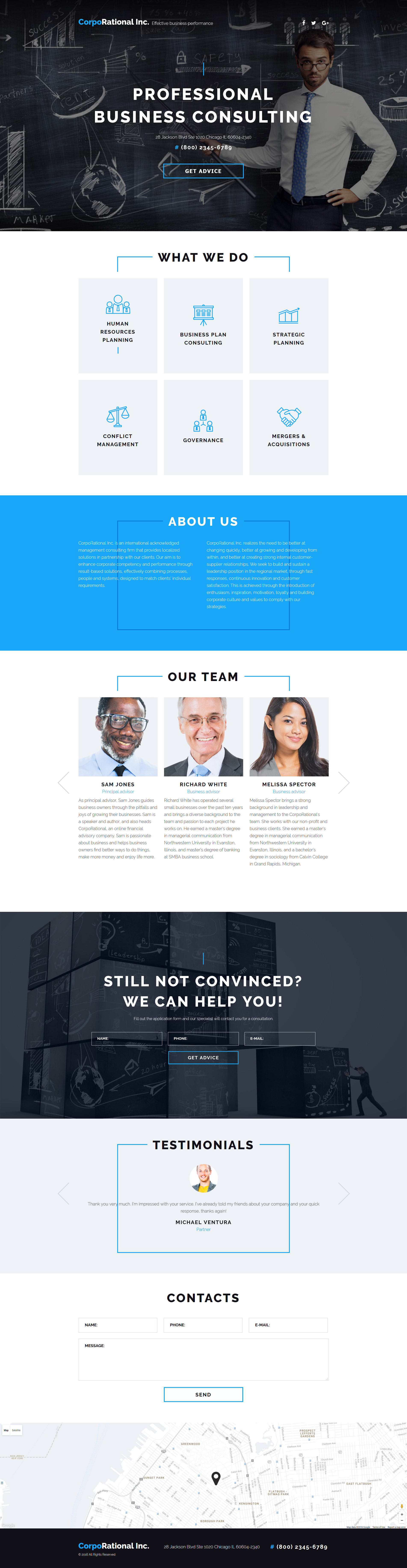 Consulting Landing Page Template - screenshot