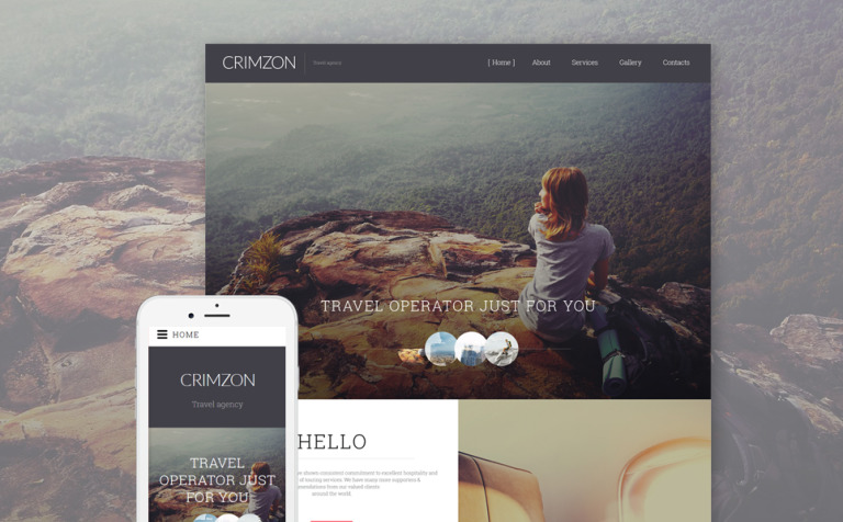 Crimzon Website Template