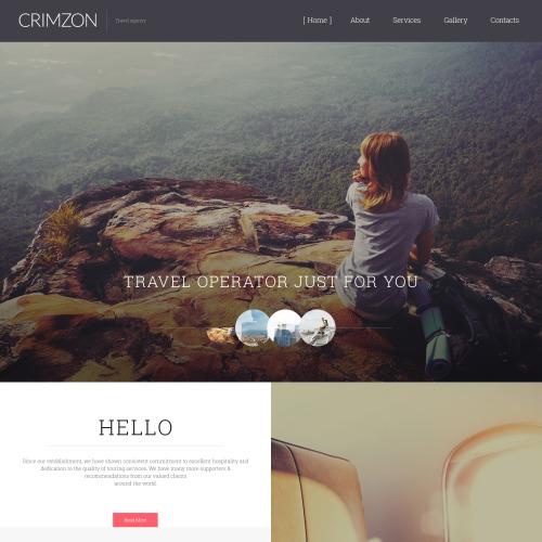 Crimzon - Responsive Website Template