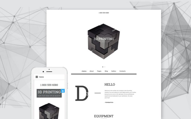 3D Printing Joomla Template New Screenshots BIG