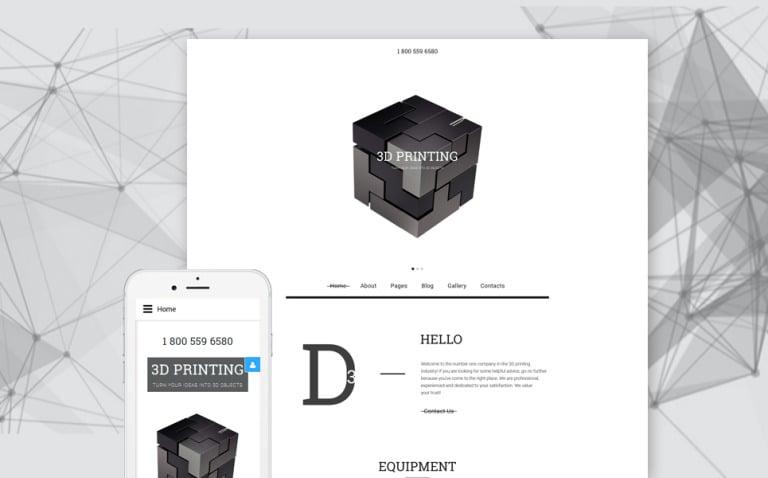 3D Printing Joomla Template New Screenshots BIG