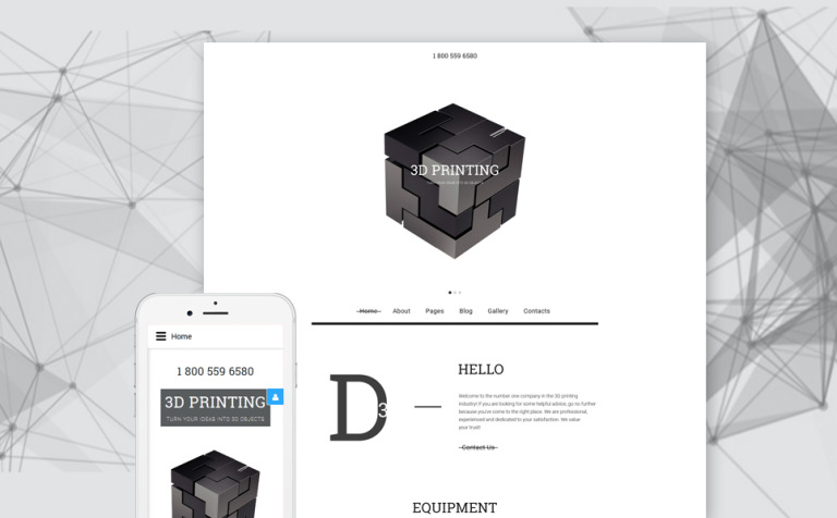 3D Printing Joomla Template