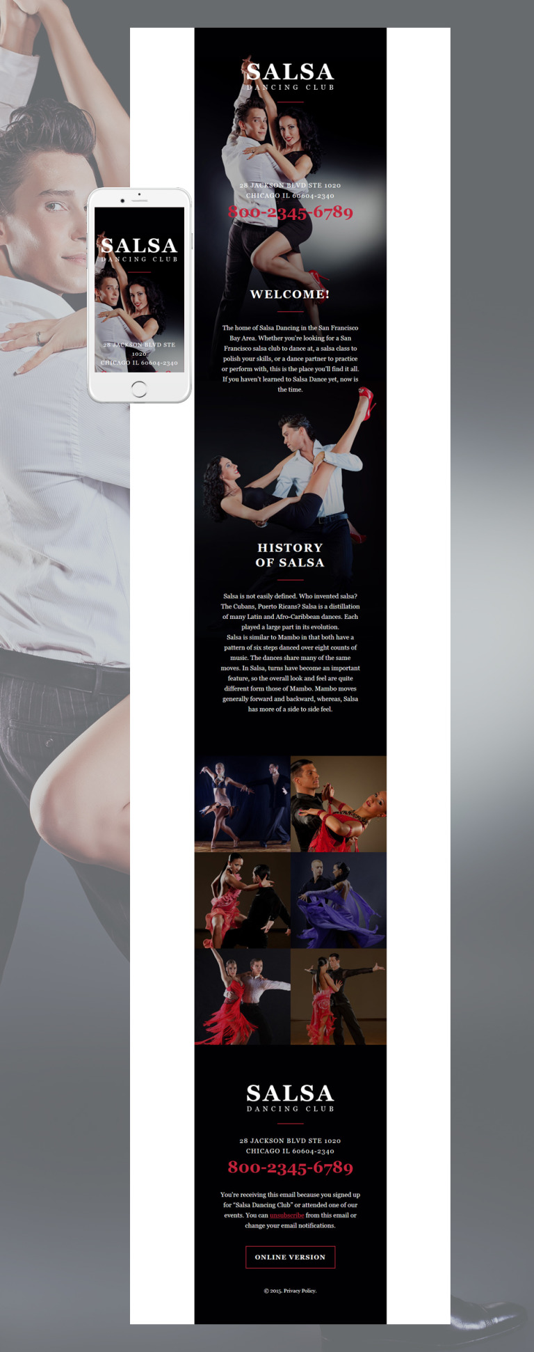 Dance Studio Responsive Newsletter Template New Screenshots BIG