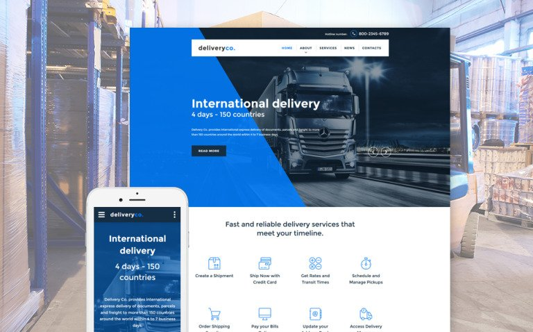 Delivery Services Web Template
