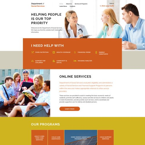 Department Of Social Services - Responsive Website Template