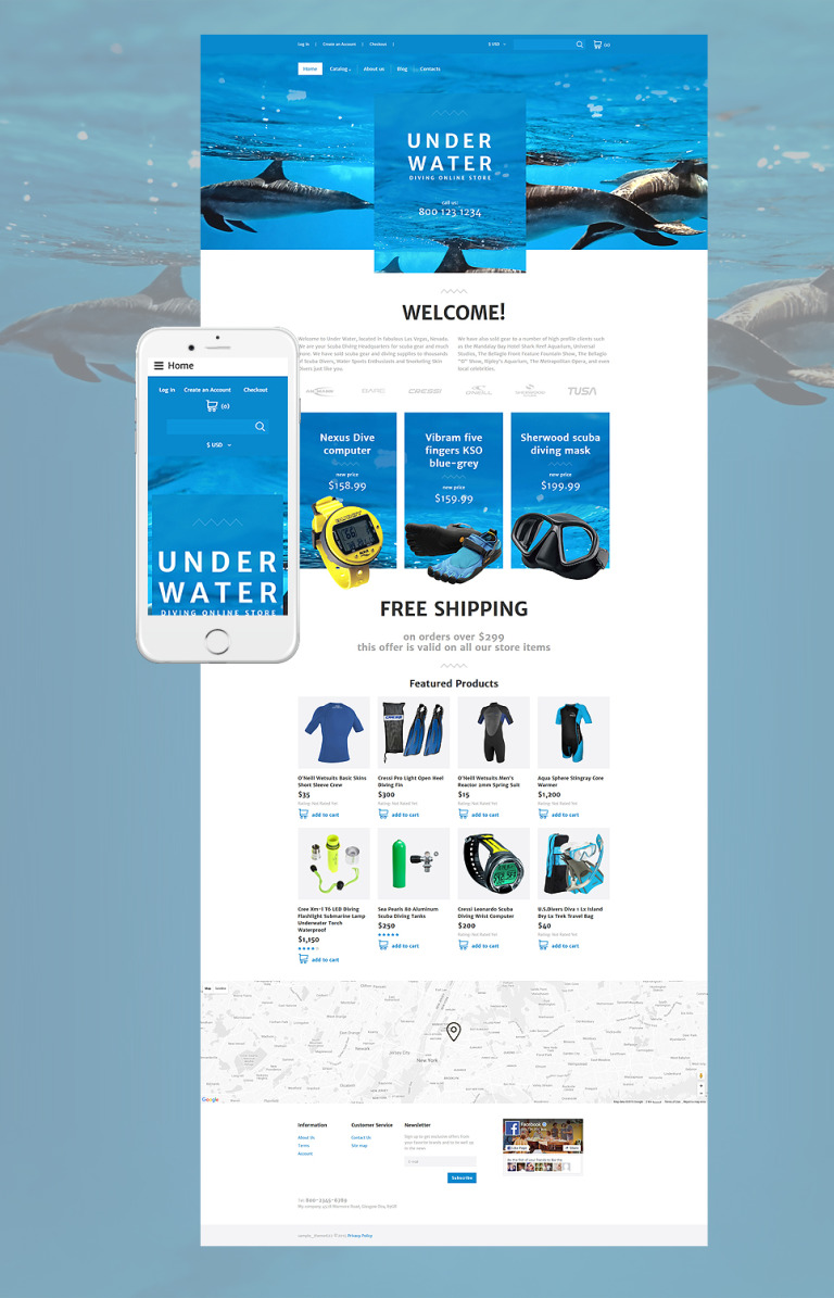 Diving Responsive VirtueMart Template New Screenshots BIG