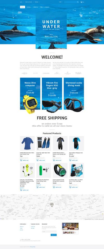 scuba diving templates