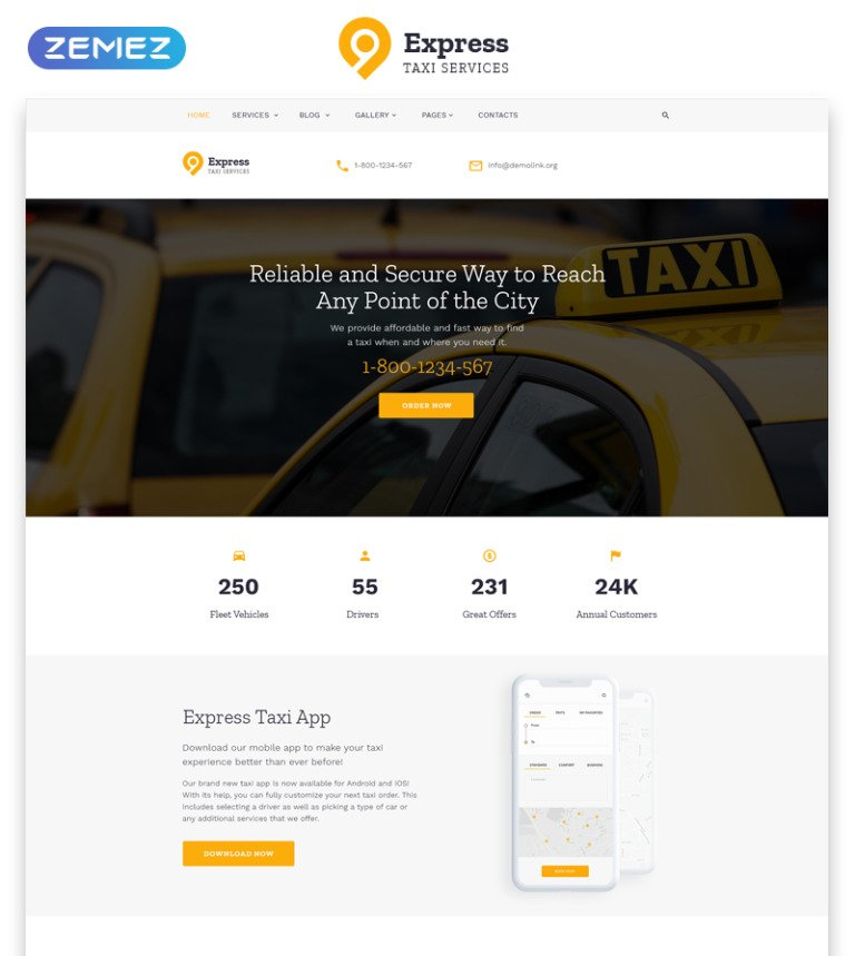 Taxi Services Multipage HTML Template