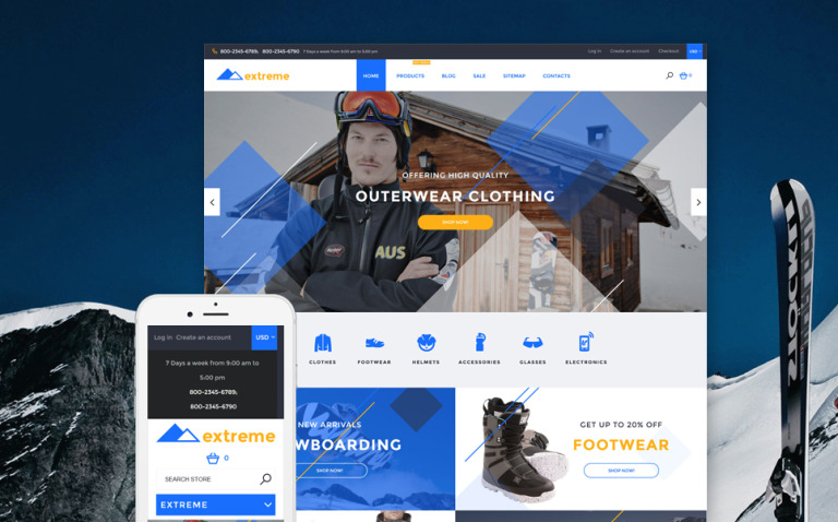 Extreme Shopify Theme New Screenshots BIG